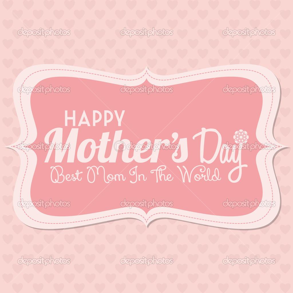 glückliche Mütter Tag Vorlage Karte Hintergrund — Stockvektor ...