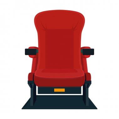 Cinema Chair Icon Isolated On White Background