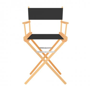 Director Chair Icon Isolated On White Background
