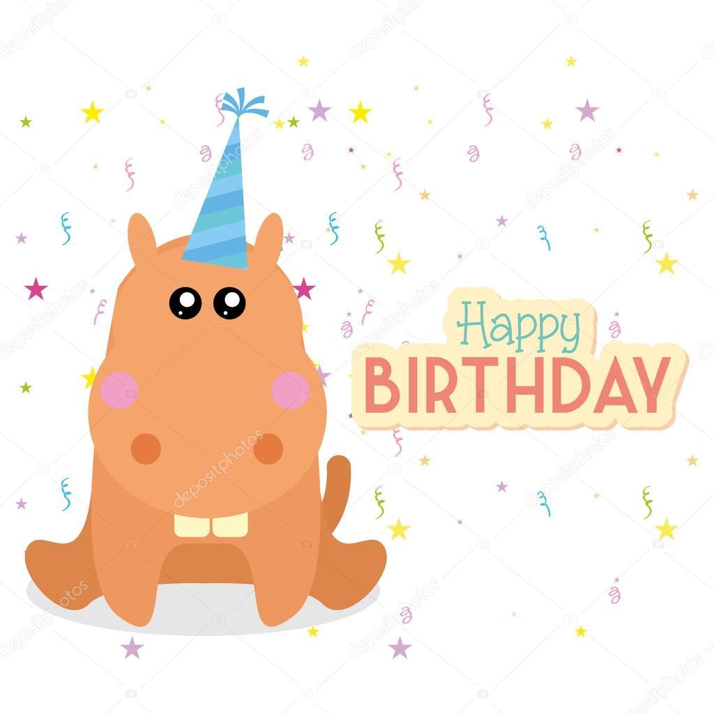 Cute happy birthday card template editable stock vector cute happy birthday card template editable stock vector bookmarktalkfo Gallery