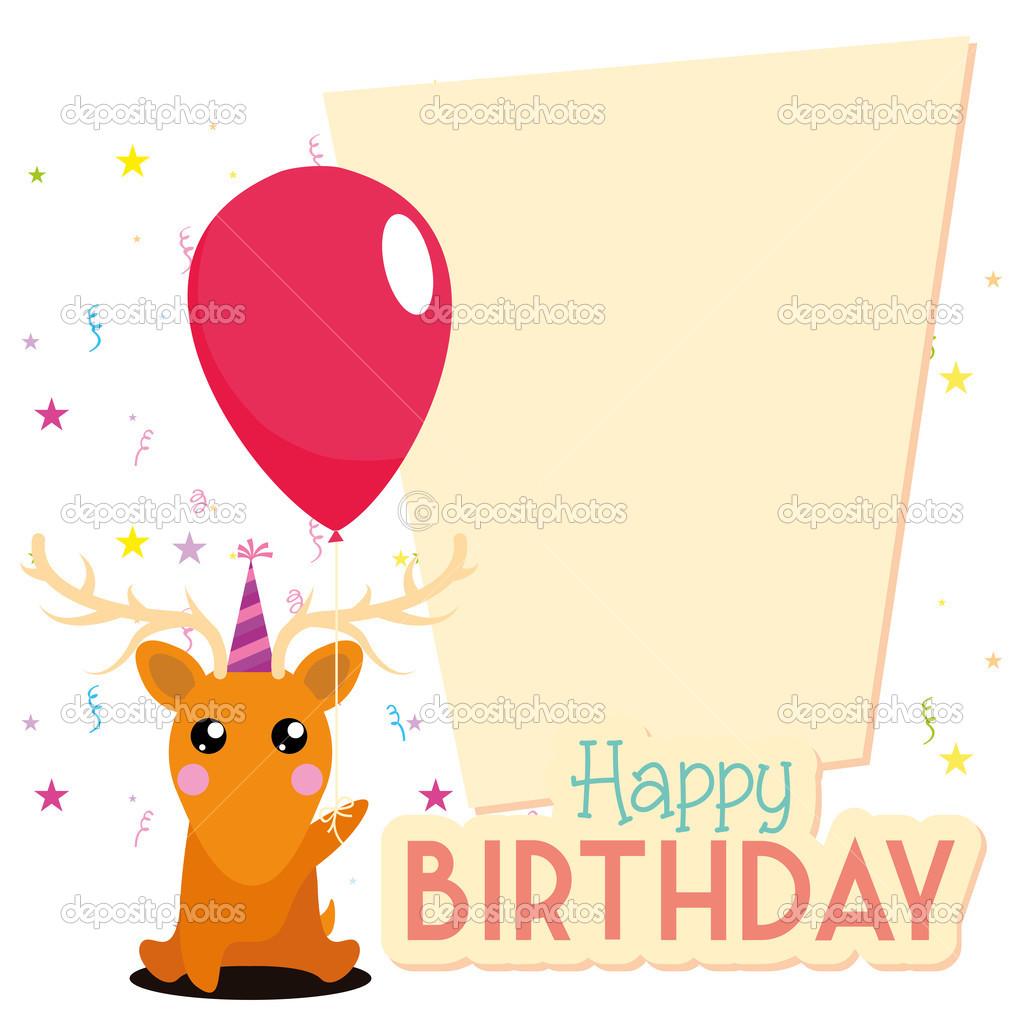 plantilla de tarjeta linda feliz cumpleaños editable — Vector de ...