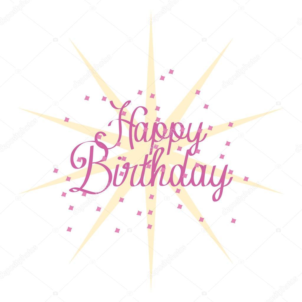 Cute Happy Birthday Card Template Editable Vector – Template Happy Birthday Card