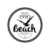 Fotografie einfach stilvolle schwarze und weiße Strand Verwandte Bezeichnung