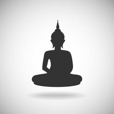 Buddha image silhouette