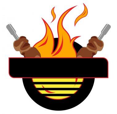 Grill, logo, vector stock vector