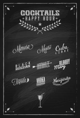 Cocktails Happy Hour   Cocktail Labels