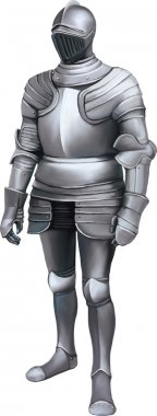 Medieval knight with full body armor stock vector