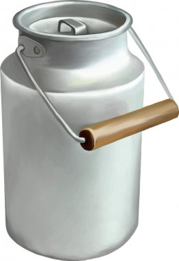 Vector illustration of milk can