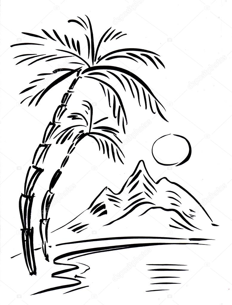 Black and white illustration of traveling themes
