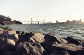 Fotografia ponte della baia di San francisco