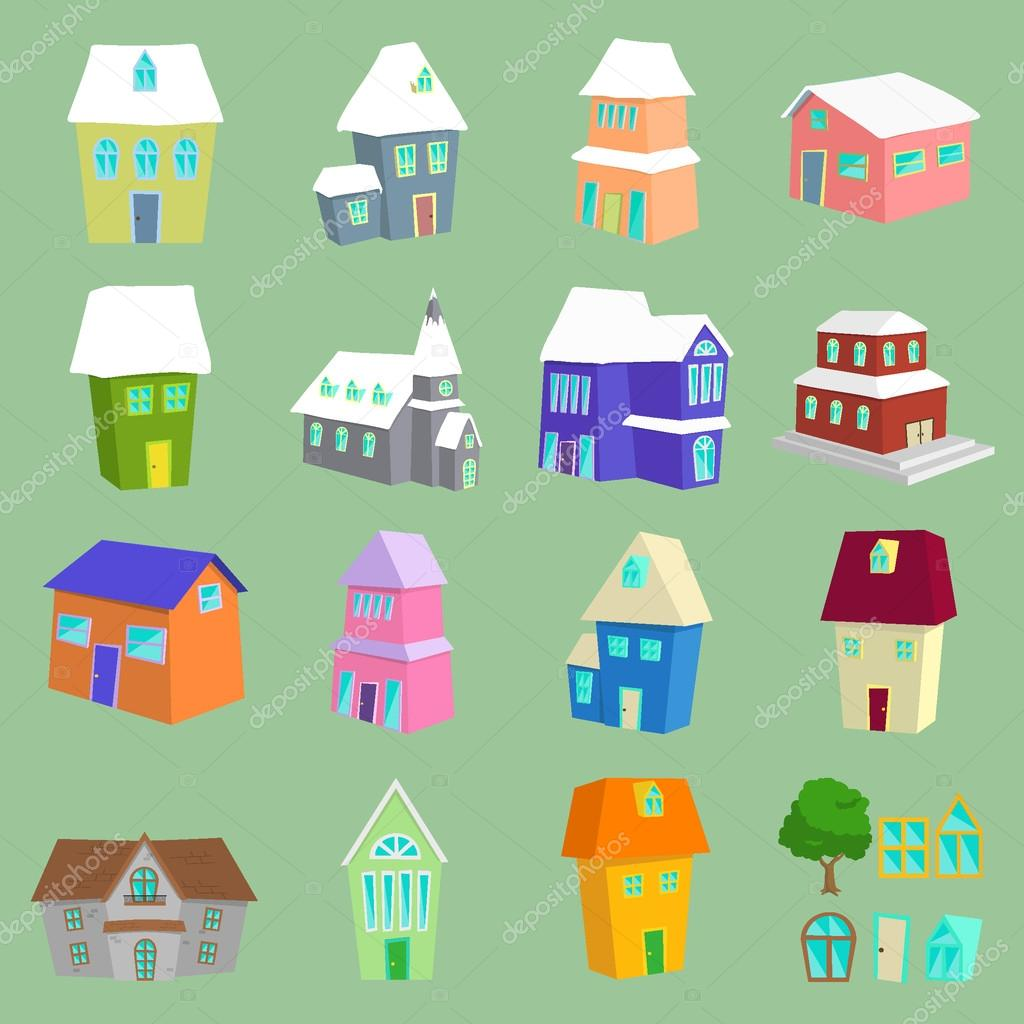 List Of Different Types Of Houses Stock Vector Cowmoo