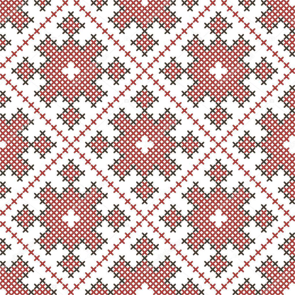 patrones bordados étnicos sin fisuras — Archivo Imágenes Vectoriales ...