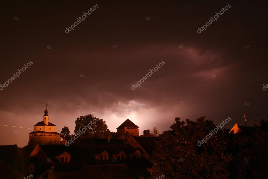 Lightning in storm