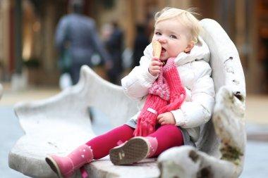 Girl eating ice-cream