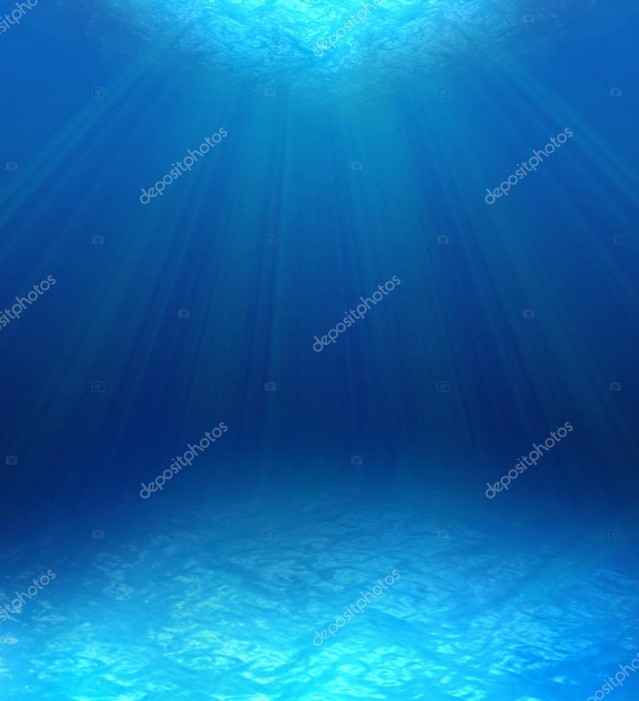 Blue water ripples underwater.