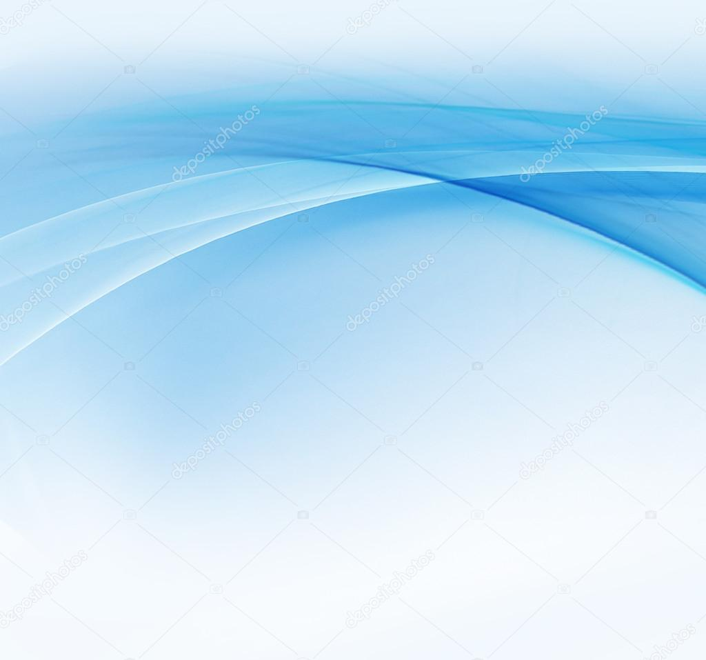 Ondas Azules Sobre Fondo Blanco