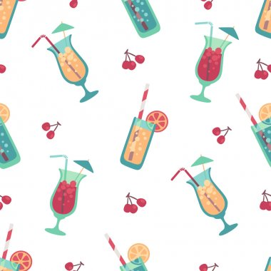 Cocktail drink seamless pattern