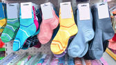 childrens socks in a store