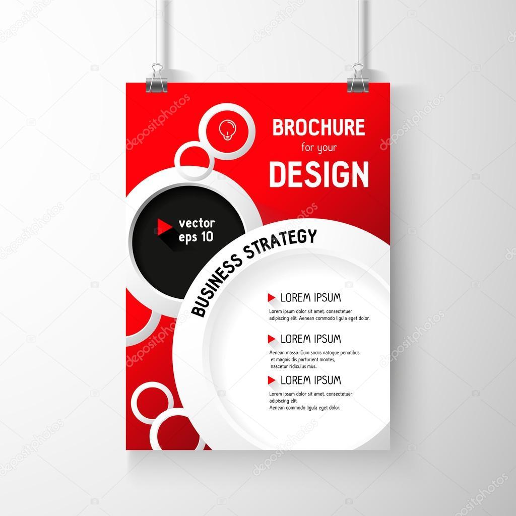 folleto negocio fondo. círculos plantilla de capa, vector — Vector ...
