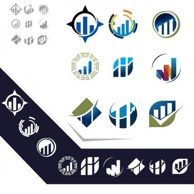 Set of business emblems