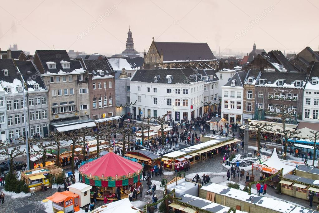Beautiful view on the city of Maastricht in the Netherlands ⬇ Stock Photo,  Image by © FamVeldman #43249757