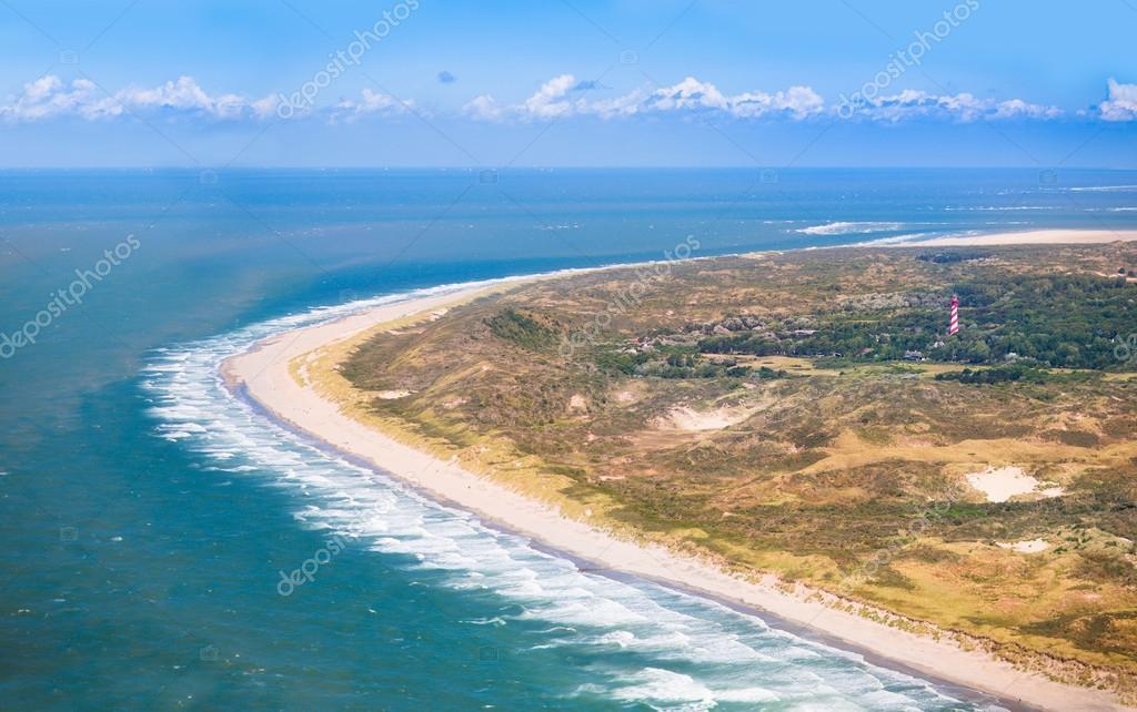 Beach from the air, Holland