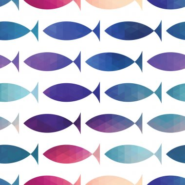fish seamless pattern. Vector. Vector triangle fish. Abstract fi