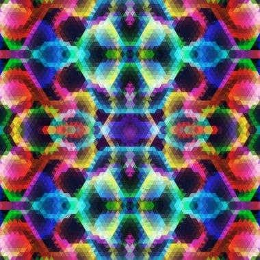Pattern of geometric shapes. Triangle mosaic backdrop.