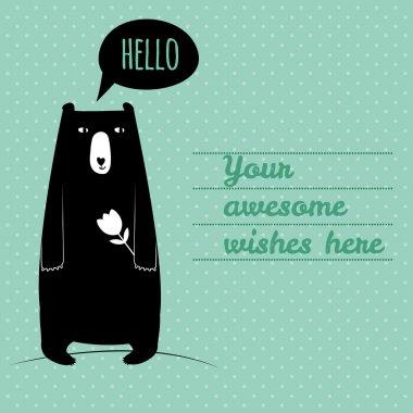 Concept card with cute bear