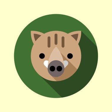 Cute little boar icon