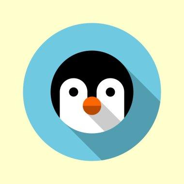 Cute little penguin icon