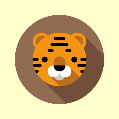 Cute tiger cub icon