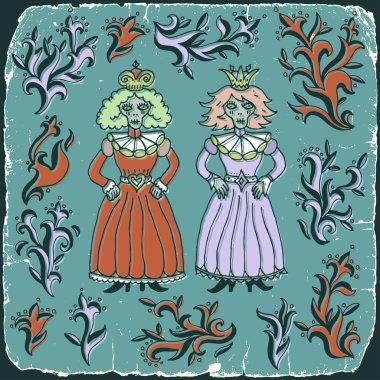 Vintage dead queens print