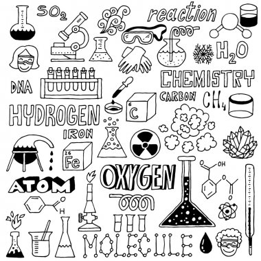 Chemistry. Hand drawn illustration. clip art vector