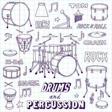 Drums and Percussion illustration