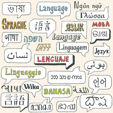 Languages. Hand drawn.