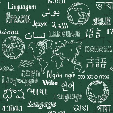 Languages seamless pattern.