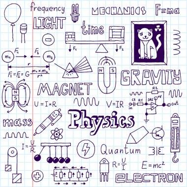Physics. Hand drawn.