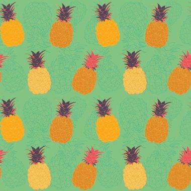 Vector pineapple seamless pattern