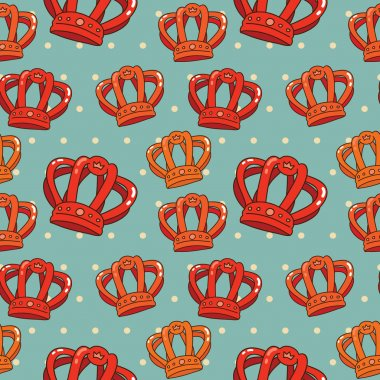 Vector orange crown pattern