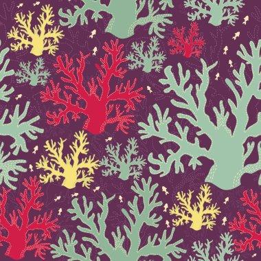 Vector underwater seamless pattern
