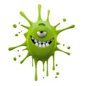 Photo Green one-eyed blob monster