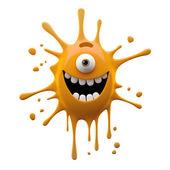 Photo Happy orange one-eyed monster