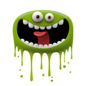 Photo Green laughing monster