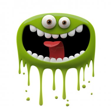 Green laughing monster