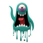 Photo One-eyed glaring cyan monster