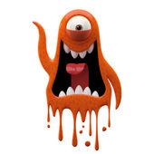 Photo One-eyed glaring terracotta monster