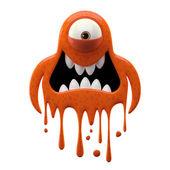 Photo One-eyed funky terracotta monster