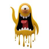 Photo One-eyed glaring yellow monster