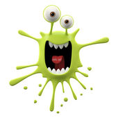 Photo Blotch-shaped lime yelling monster
